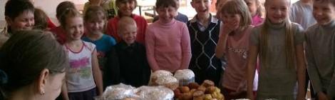Освящение Пасхальных куличей в Общеобразовательной школе посёлка