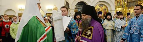 Предстоятель Русской Церкви возглавил хиротонию архимандрита Саввы (Никифорова) во епископа Валуйского и Алексеевского